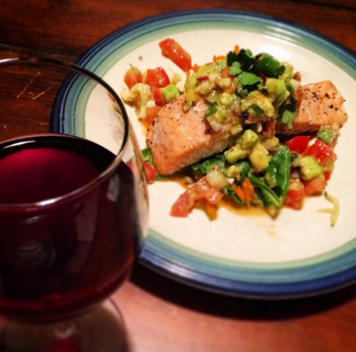 Check out the recipe:  Chipotle Lime Salmon