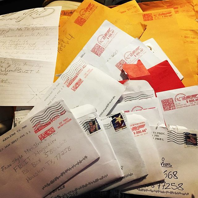 Letters sent to FRUIT. magazine