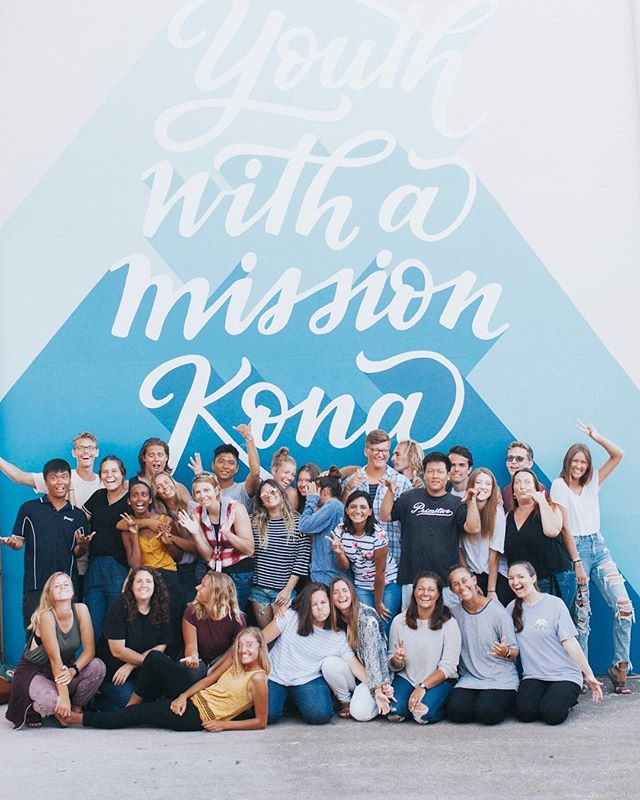 One big crazy, Jesus-loving family. 4 days until Graduation when our students go off home to the Nations. We love this group 💙