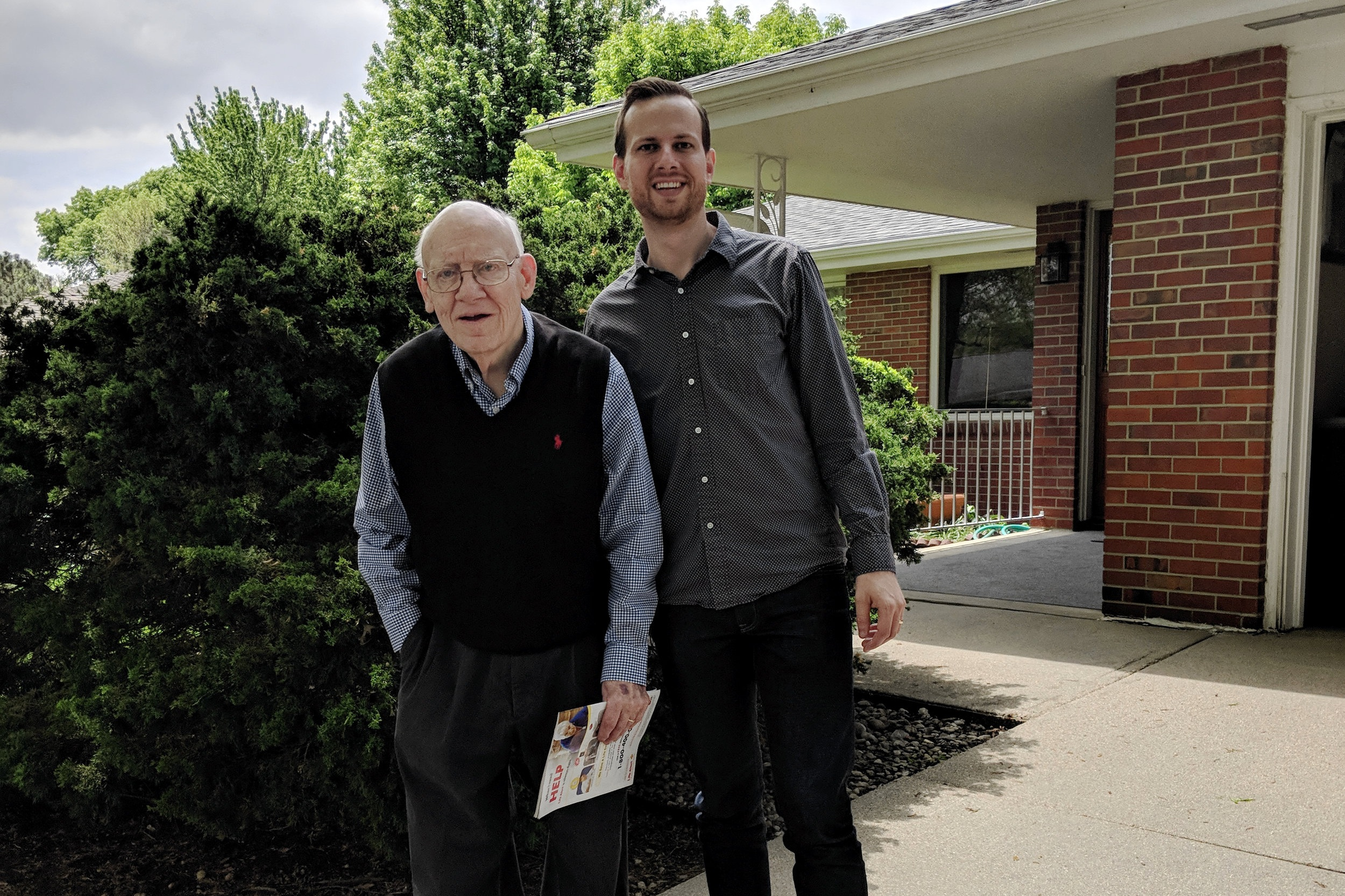 Dan and Grandpa Wiersbe in the late Summer of 2018.