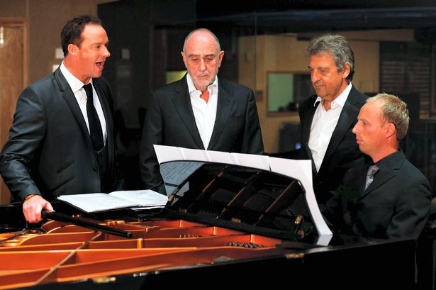 RDCE accompanying Russell Watson with the writers of  Les Misérables,  Claude-Michel Schönberg and Alain Boublil