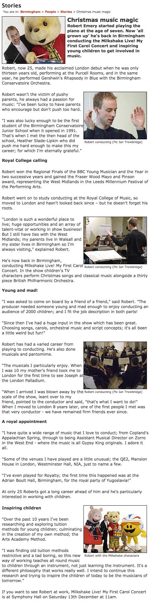 Robert Emery My First Carol Concert