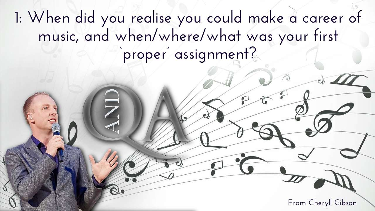 When did you realise you could make a career of music, and when/where/what was your first 'proper' assignment?