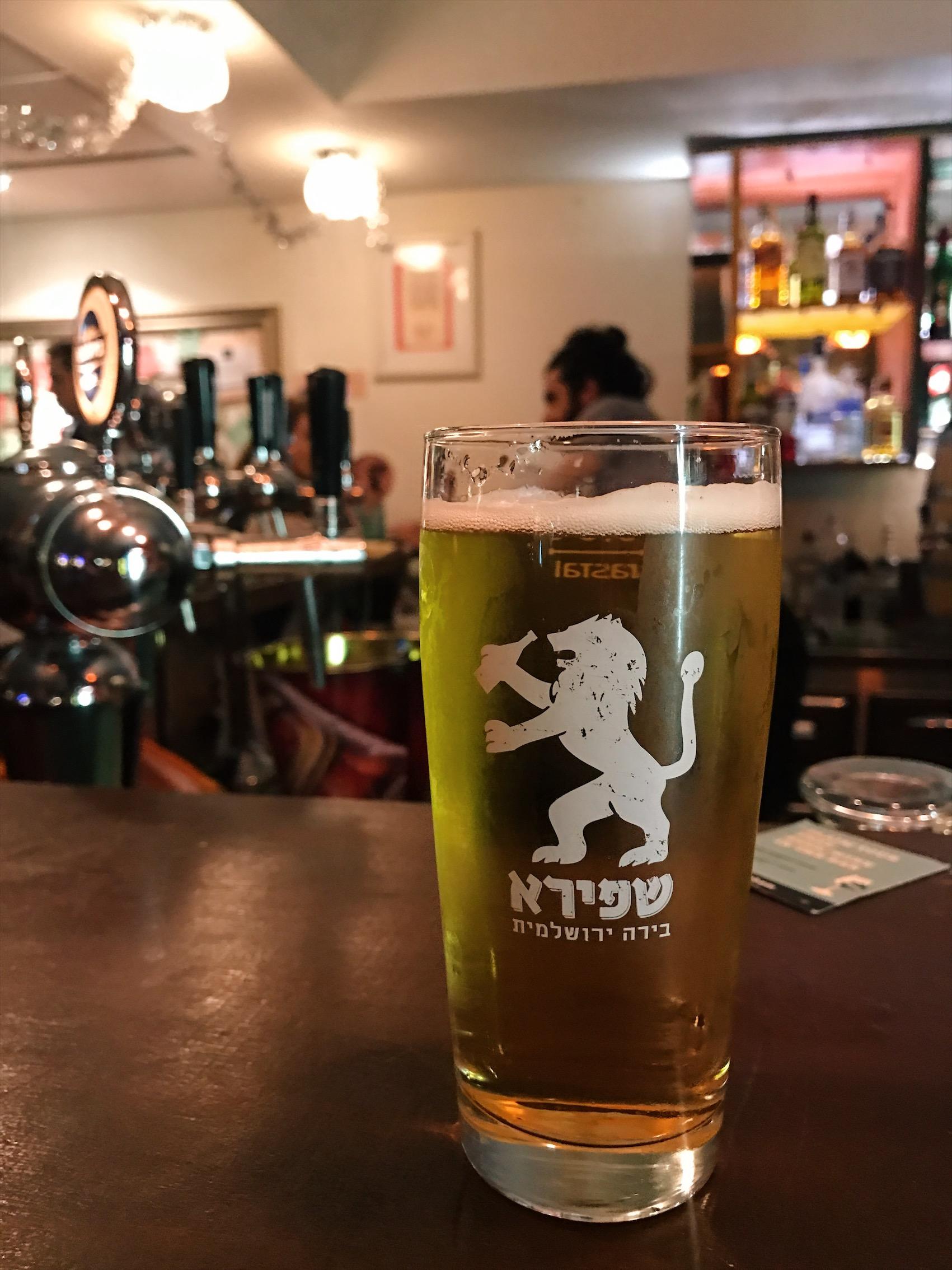 Israeli beer - Jerusalem.