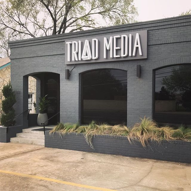 We love our new sign by @austinsignbuilders! Come check out the studio for your next audio/video project! #austinfilm #atxfilm #texasmedia