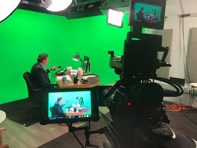 A day of green screen work in our studio with Ethics One for @raytheoncompany  #austinfilm #atxfilm #greenscreen
