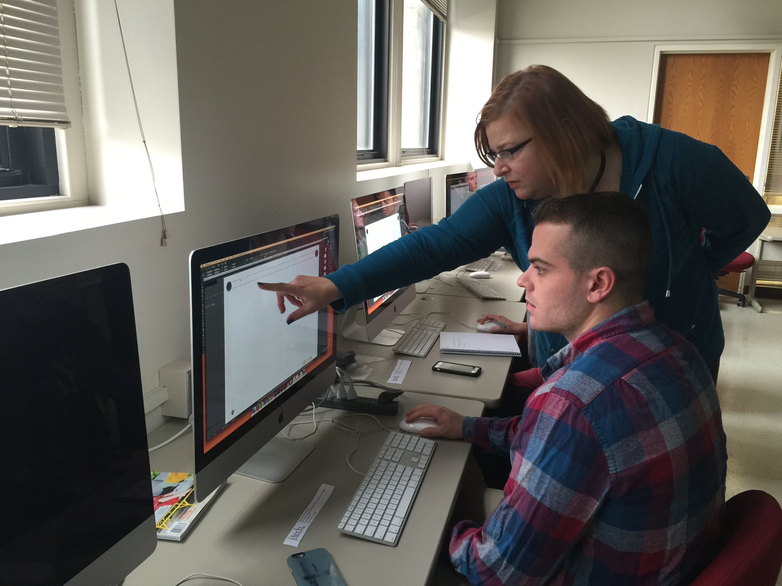 This semester, students learned InDesign, Photoshop, Adobe Premiere and WordPress during JTech Fridays from Heather Lawrenz, the J-School's digital media specialist.