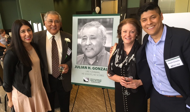 Julian Gonzalez with his daughter Sara, wife Janice and son Joseph.