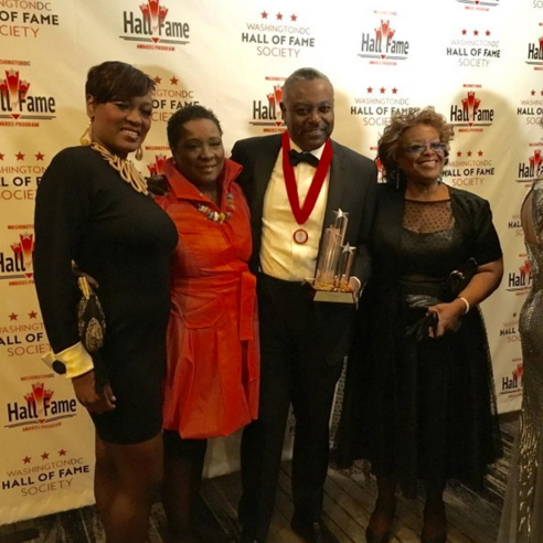 Sam Ford and his family attend the Washington D.C. Hall of Fame Society Awards Program.