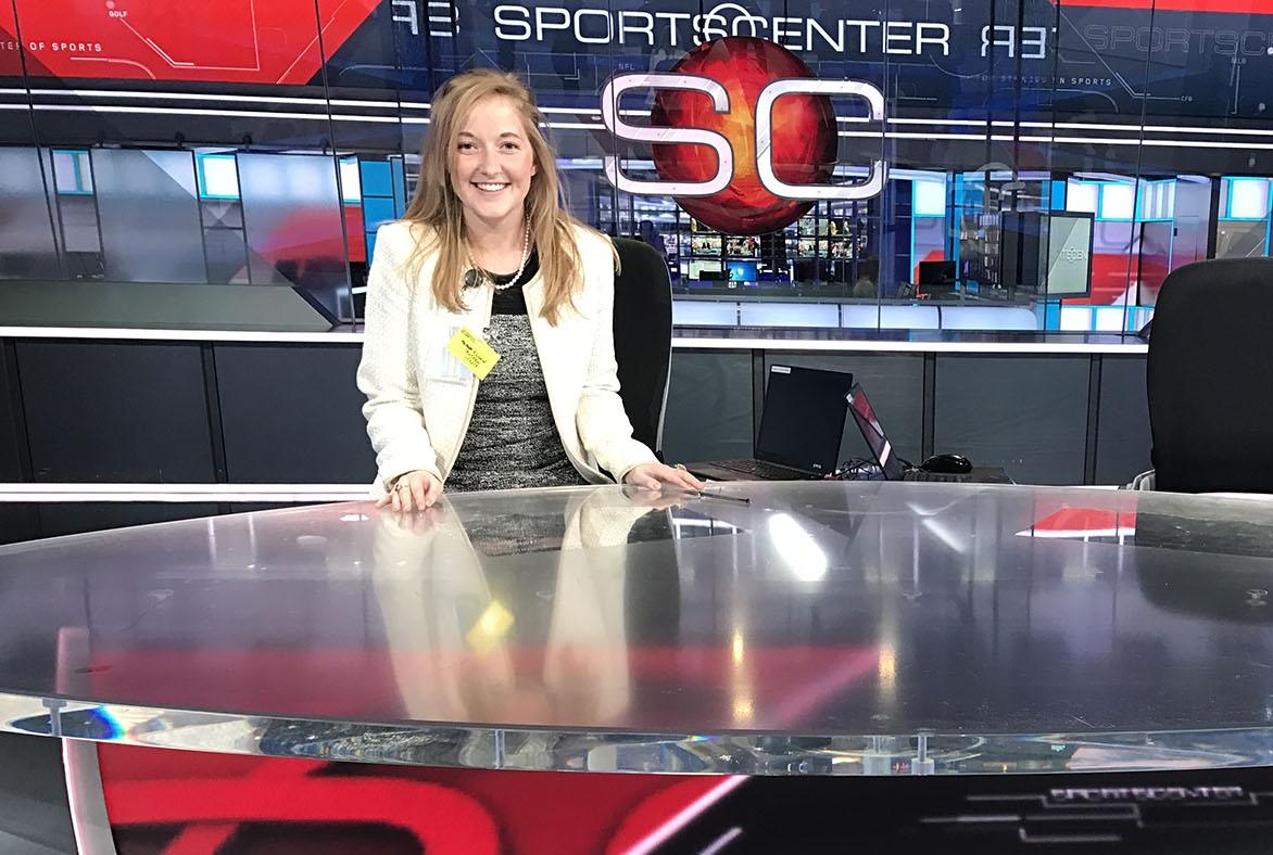 Alana Flinn  interned for ESPN's SportsCenter during the Spring 2017 semester.