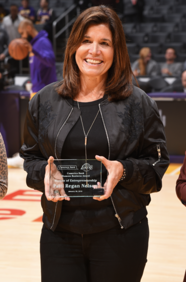 Patti Regan  (j'87), leader of the Regan Group and CEO of TRG Fulfillment, was awarded Woman Entrepreneur of the Year at the Los Angeles Lakers game on Jan. 29. Patti manages direct client relationships while also positioning TRG as a partner for other marketing agencies. Under Patti's leadership, the Regan Group is now one of the top 50 promotions agencies in North America and has won multiple awards for its innovative campaigns.