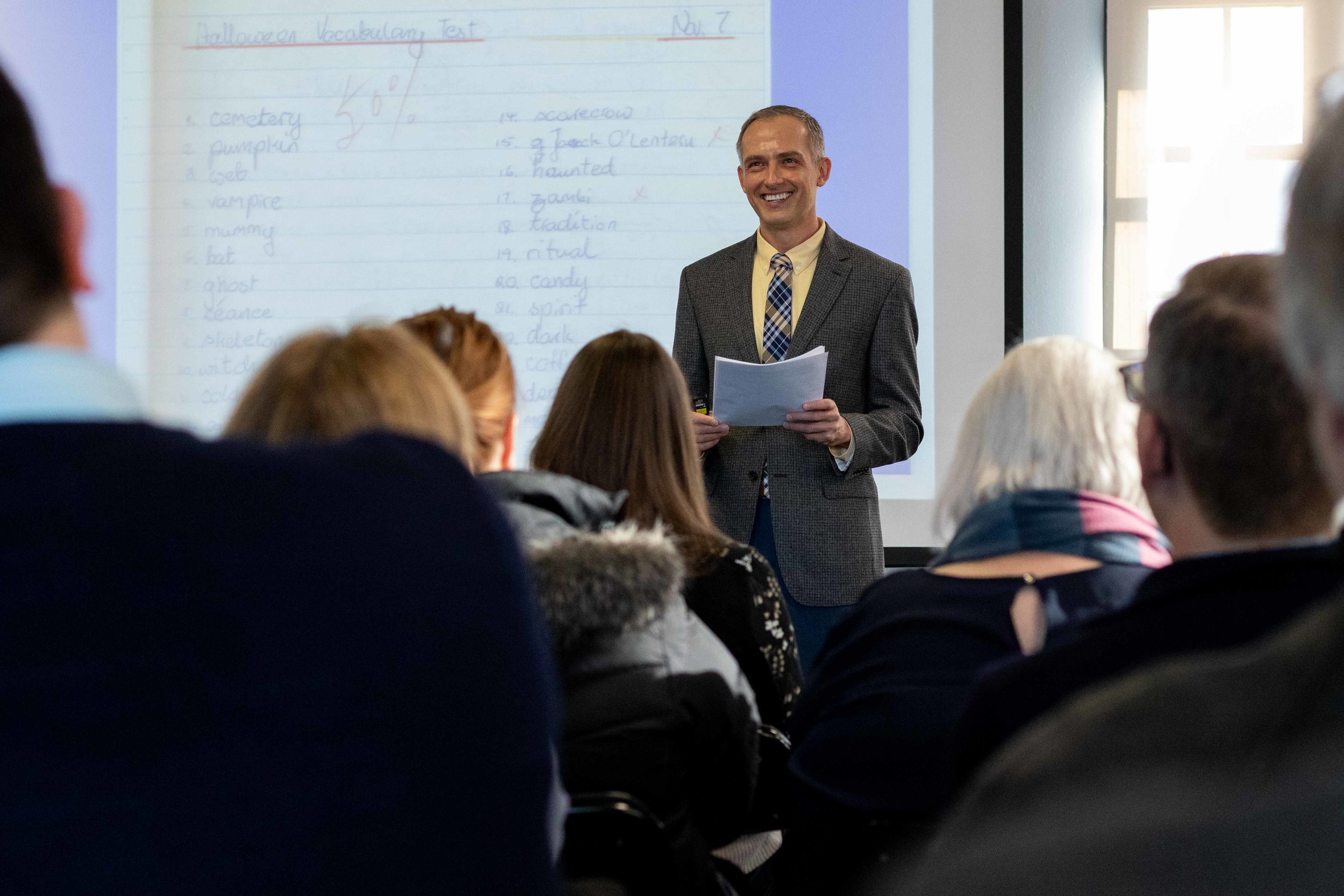 Associate Professor Peter Bobkowski delivered the Budig Teaching lecture in March.
