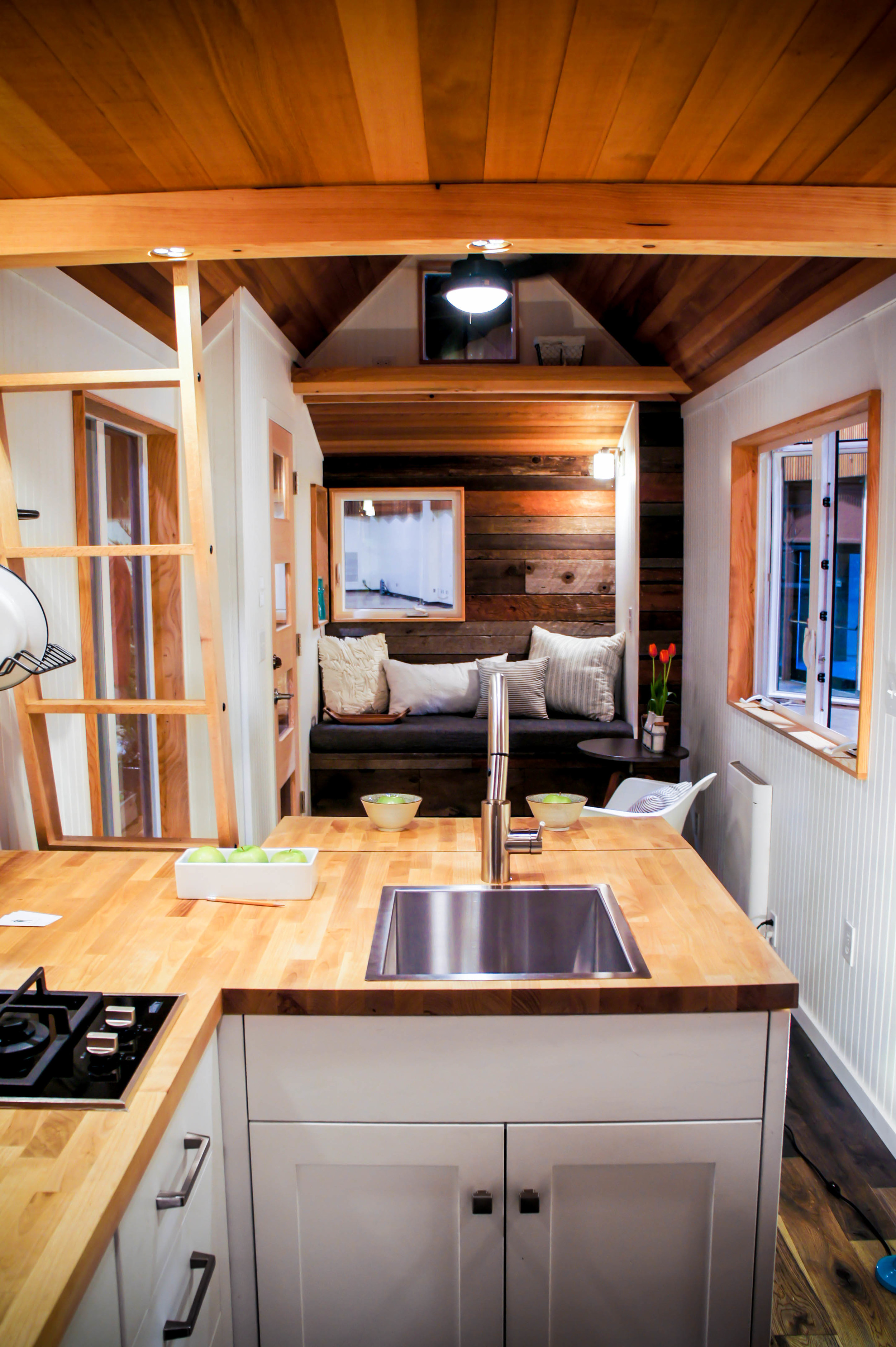 tiny house living room with nook