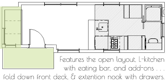 tiny home kitchen layout