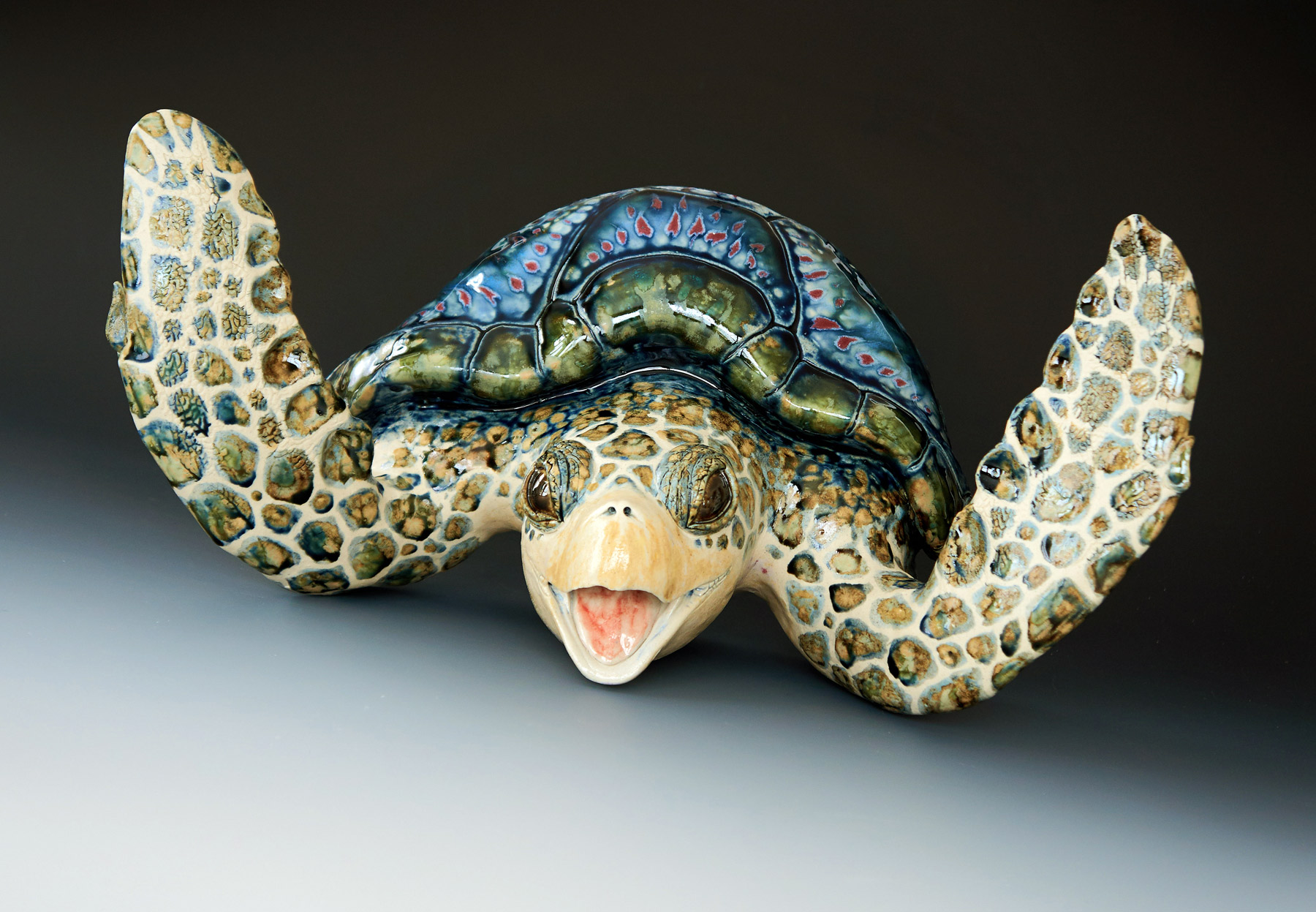 Large Wall Hanging Sea Turtle, 20 inches wide.