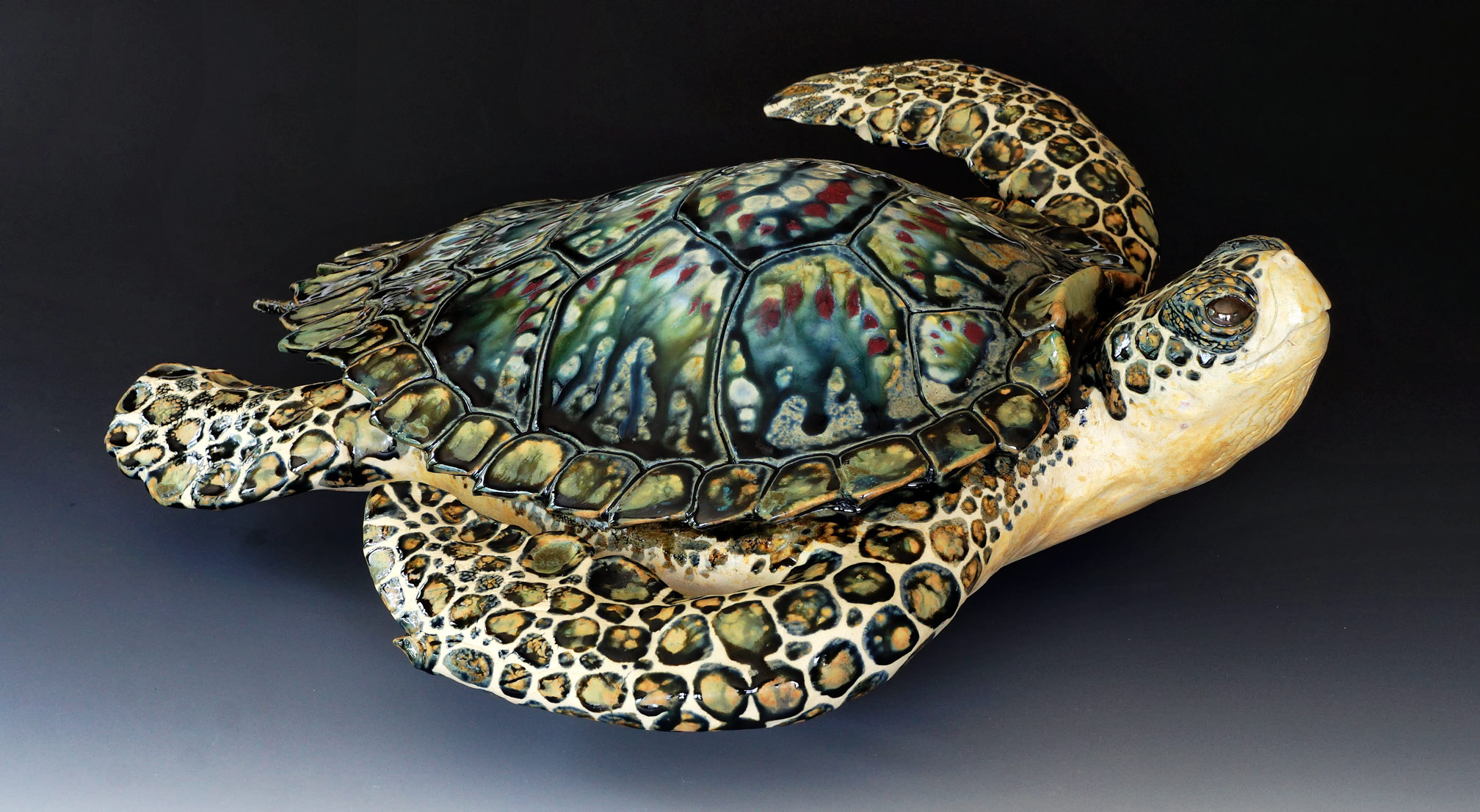Free Standing Sea Turtle, 21 inches long