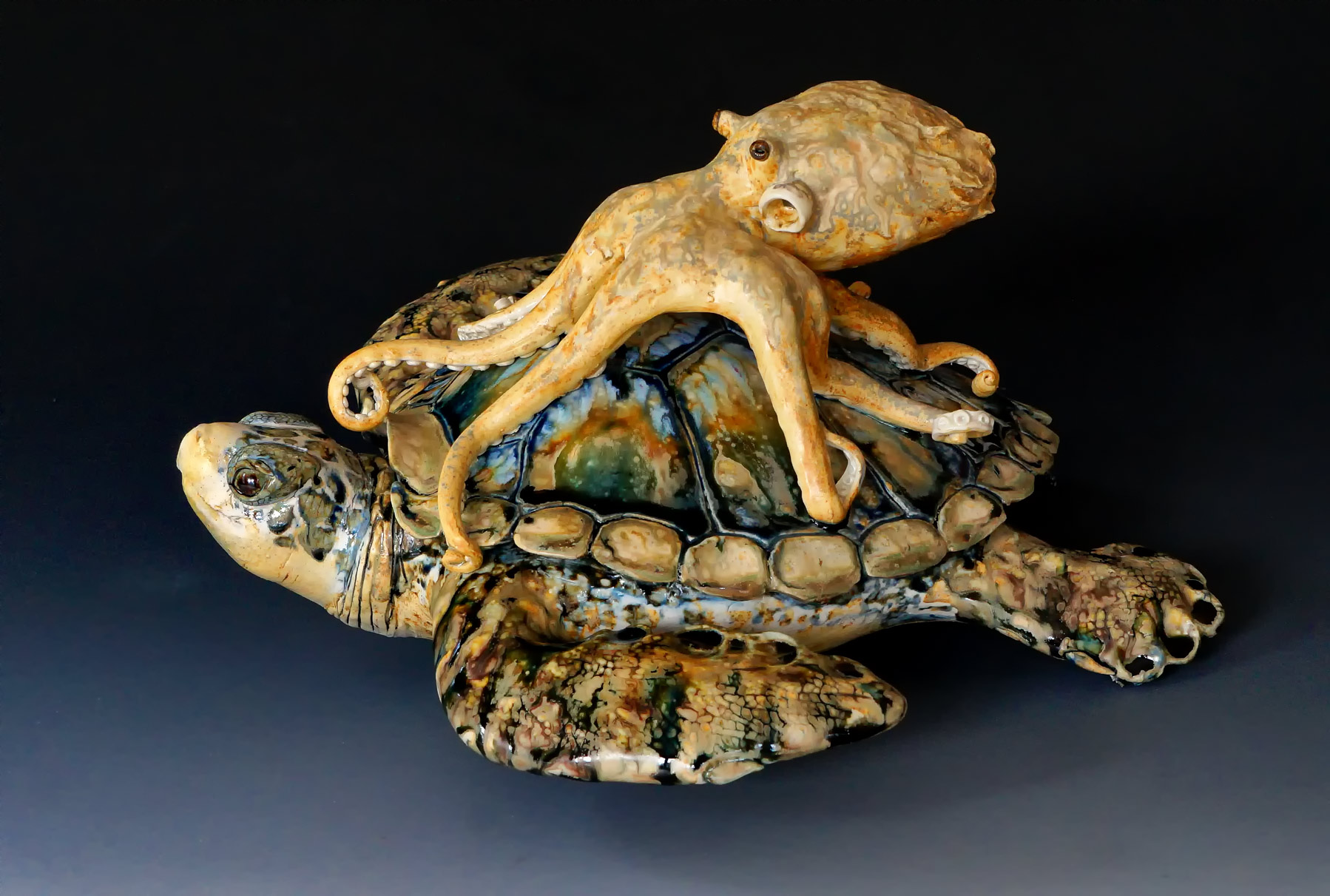 """""""The Long Ride"""" 16"""" X 16"""" X 8"""" Table Sculpture"""