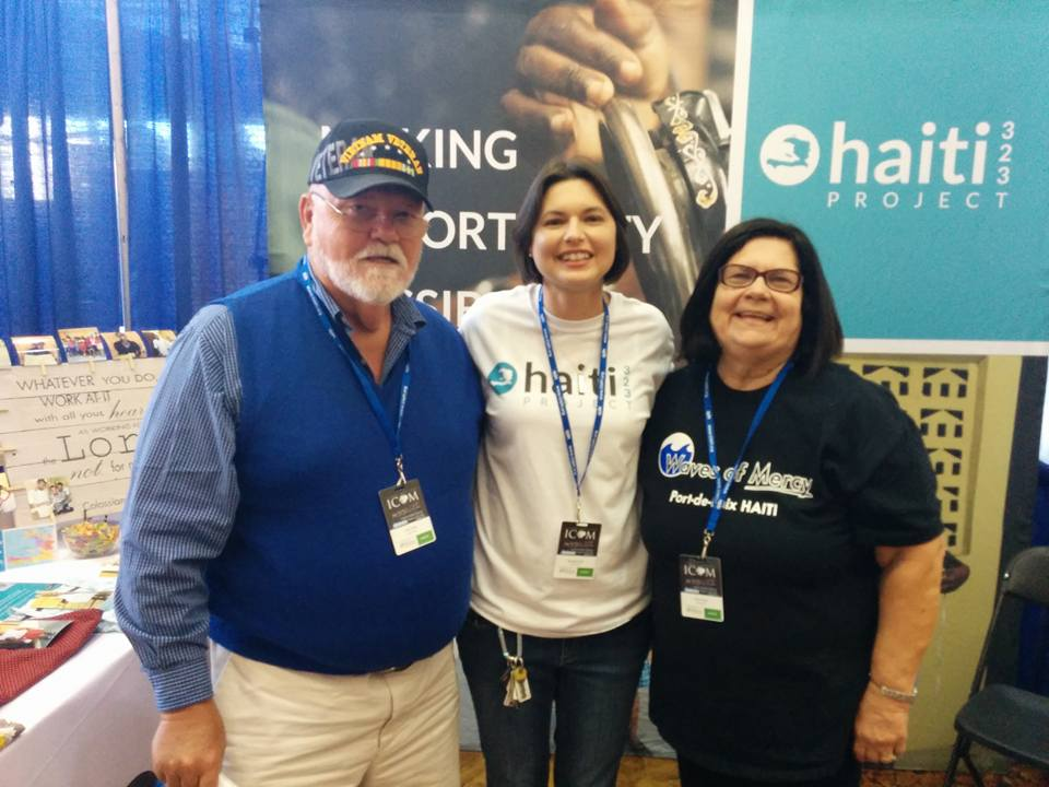 Larry and Diana Owen of Waves of Mercy with Michelle Smith at the International Conference on Missions.
