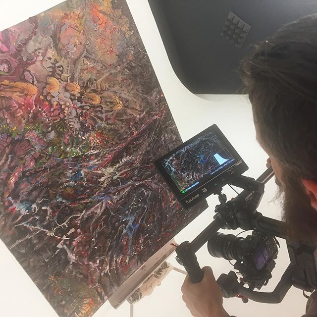Ideal cyclorama studio next to our paint studio: ) Shooting VJ content from our paintings.  #painting #artexhibition #forthearts #artwork #artvideo #closeup #macro #artadvocacy #fineart #fineartphotography #mindovermatter #visionaryart #vision #transformation #transformationtuesday #art #creative #artist #artistsoninstagram