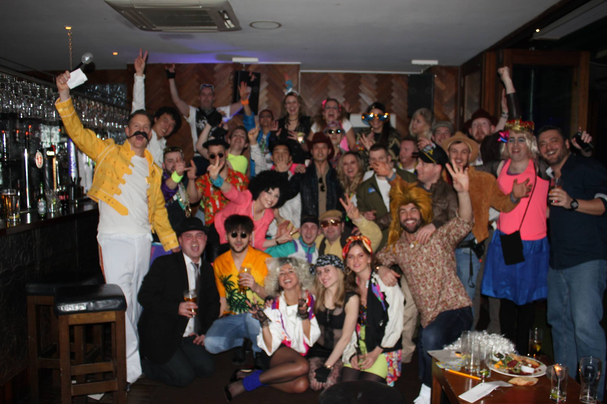 STAFF PARTY 2016- 8OS THEME! HELLO FROM ALL THE STAFF AT THE BANK!
