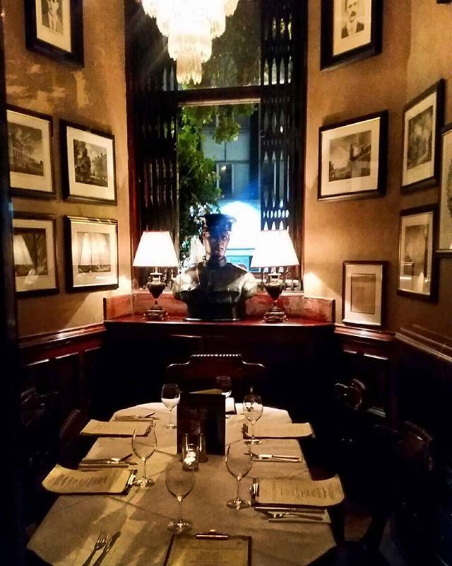 This a private room that holds from 5 - 8 people for dining. It boasts an old night safe dating back to the early 1900s and also original Malton pictures of Dublin decorating the room. It is perfect for a business lunch or special get together in the evening.