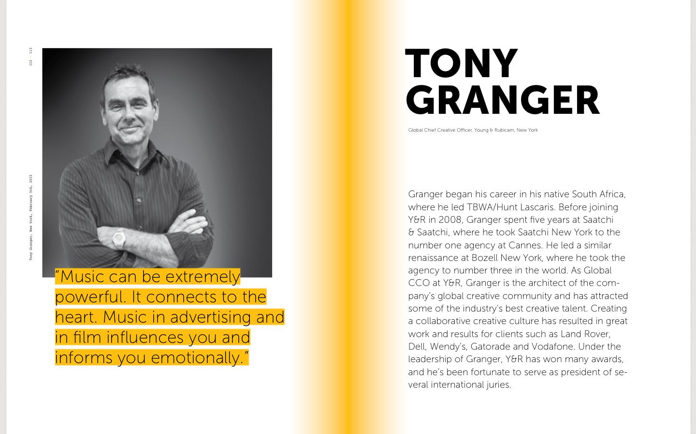 Tony Granger Young&Rubicom on Sound branding, advertising in music, audio branding, sound identity