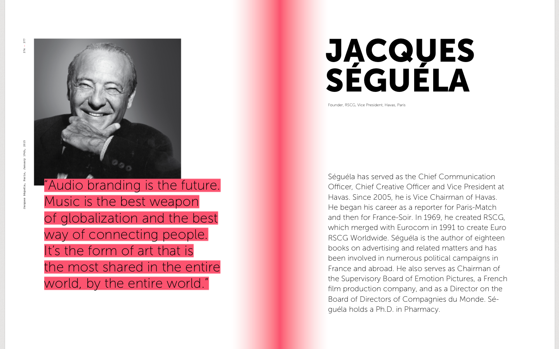 Jacques Séguéla on Sound branding, advertising in music, audio branding, sound identity