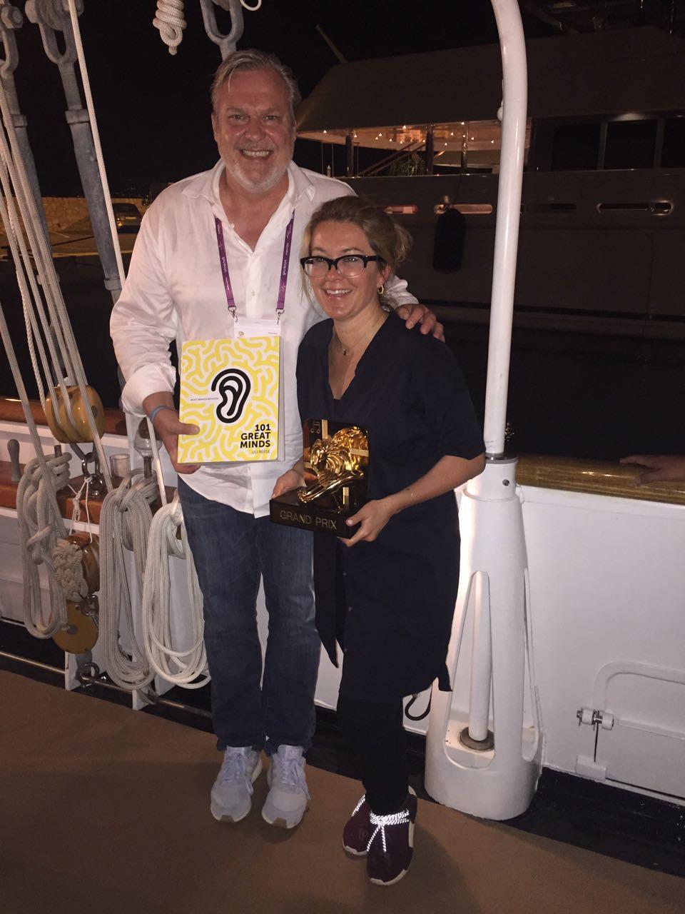 Uli & Alegra at the 2017 Cannes Lions Festival of Creativity.