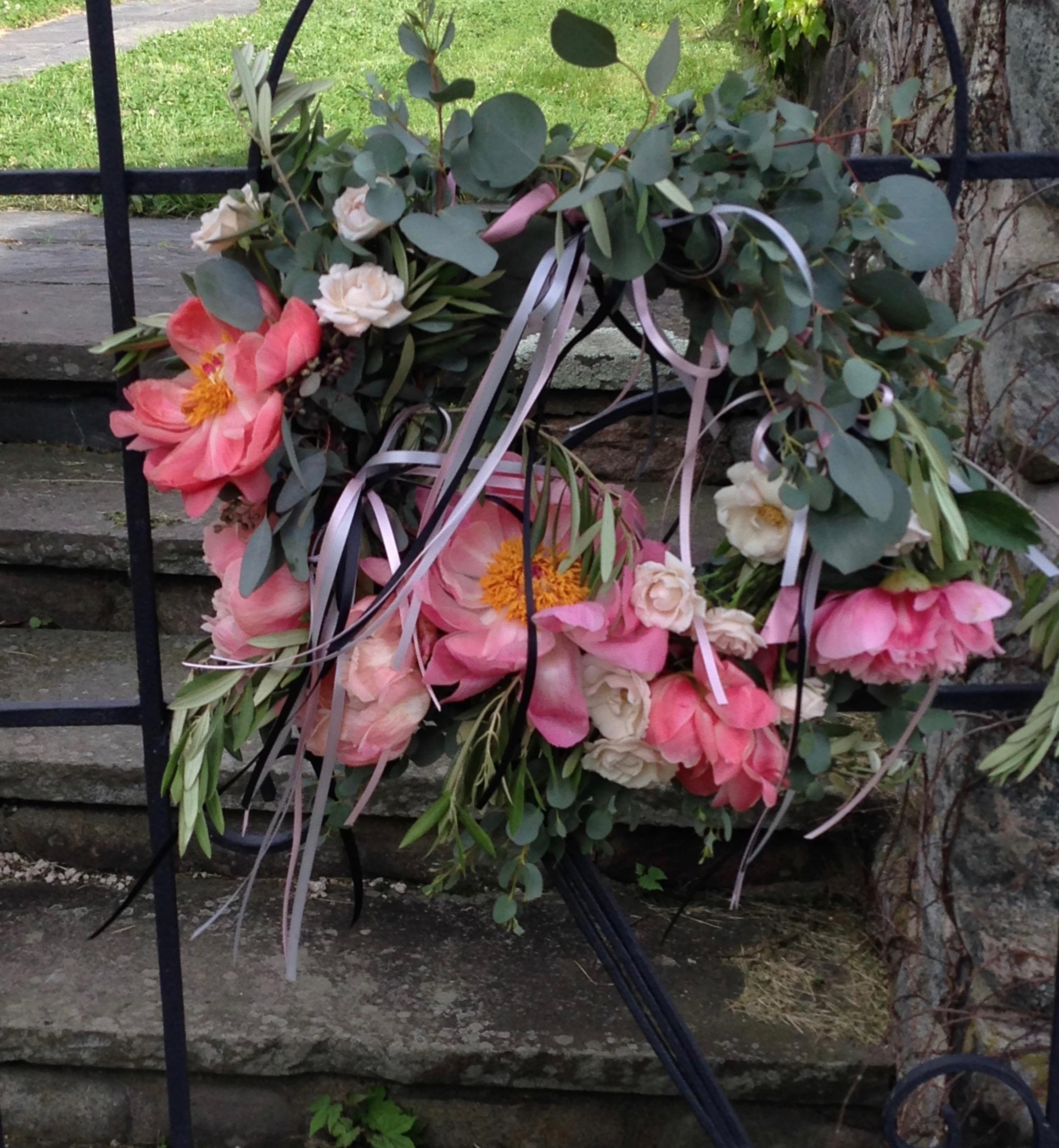 seasonal wedding wreath