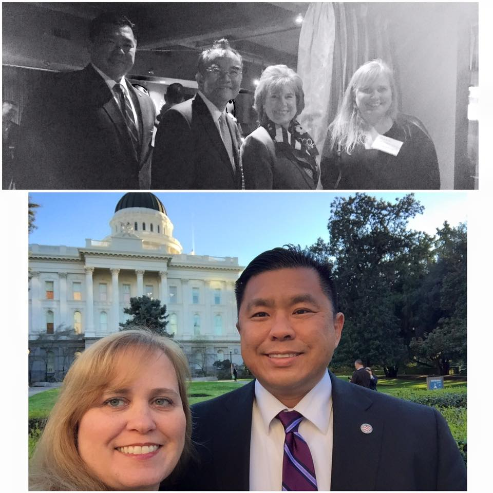 Charlotte Danielsson with California State Senate Minority Leader Jean Fuller