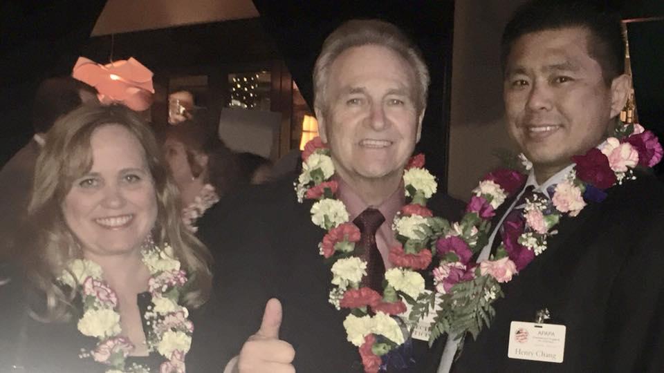 Charlotte Danielsson with California State Senator Jim Nielsen