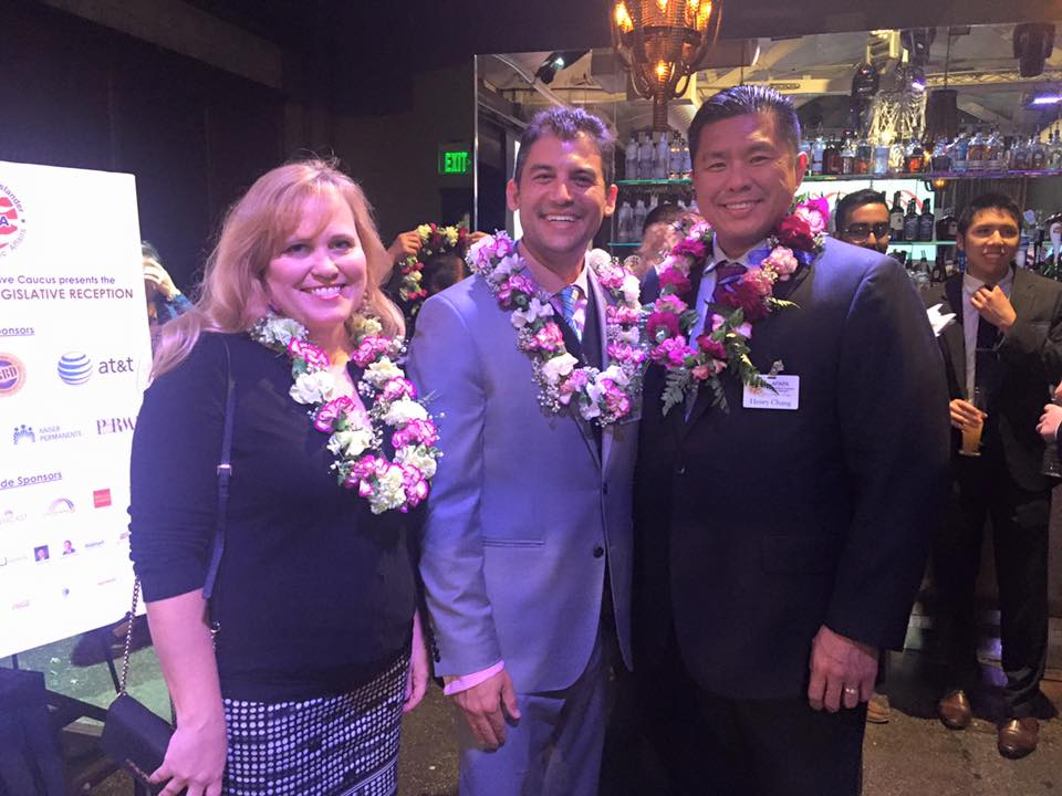 Charlotte Danielsson with Assemblymember and Chair of the API Caucus Das Williams