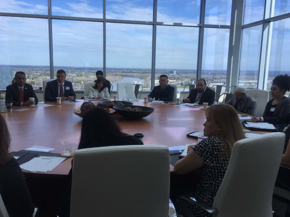 Charlotte Danielsson participating in a technology & innovation roundtable discussion with members of the California Legislature along with representatives from Uber, Microsoft, PayPal, Airbnb, Google, Texas Instruments, Lyft, Facebook and Salesforce