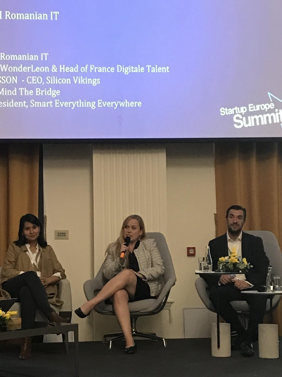 Charlotte Danielsson speaking at the invitation of the Romanian Presidency of the Council of the European Union at their recent Startup Europe Summit in Cluj, Romania