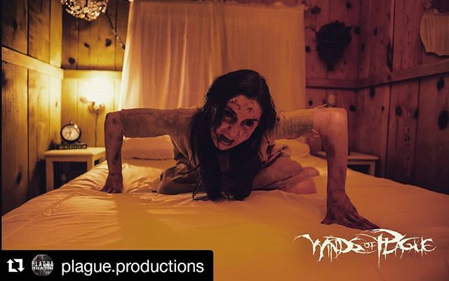 #Repost @plague.productions ・・・ We had a really strange and unusual winter night in a tiny one room cabin in the small mountain town of Mt Baldy.  #windsofplague #neveralone #deathcore #production #videoproduction #musicvideo #setdesign #Horror #exorcist #possessed #blackcraftcult