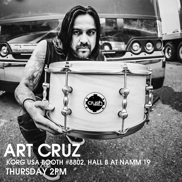 Anyone attending the NAMM Show? Our drummer @theartcruz will be playing a few WOP jams with @adrienne_cowan Thursday at the @korgofficial @crushdrums booth at 2pm.