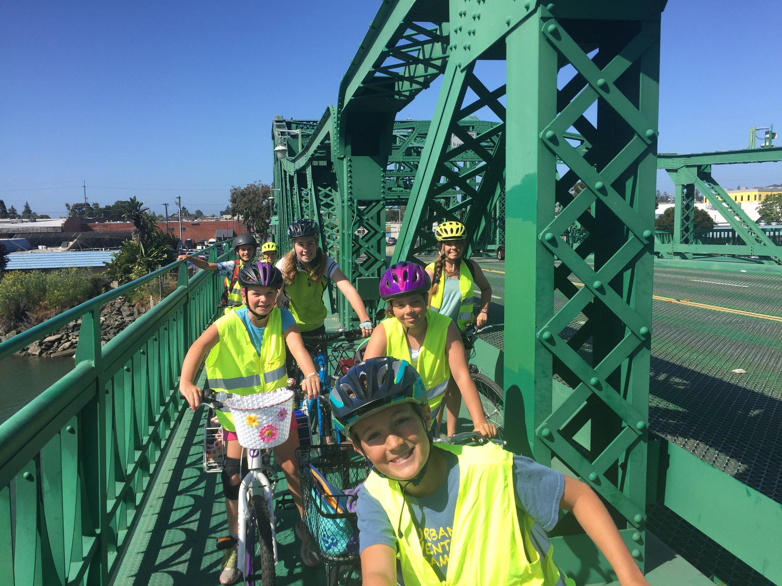 penelope and girls on park bridge.JPG