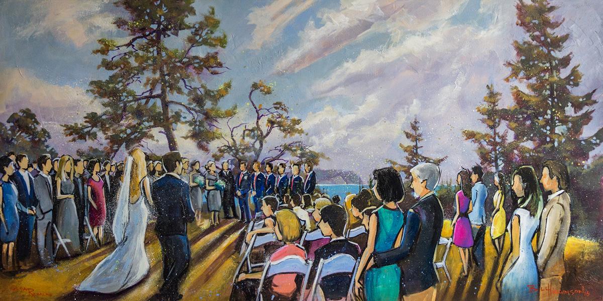 Vancouver Live Art, Wedding Painting on the Sunshine Coast