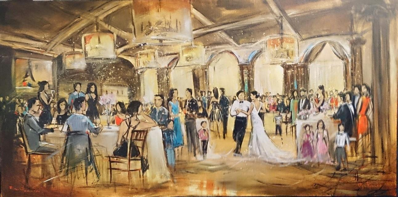 live wedding painting by impressions live art - vancouver club