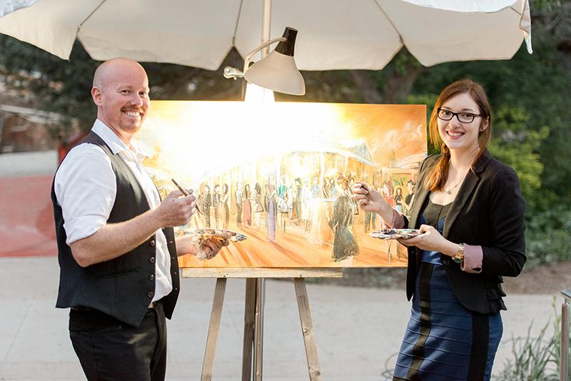 the knot rocks denver colorado wedding mpressions live art