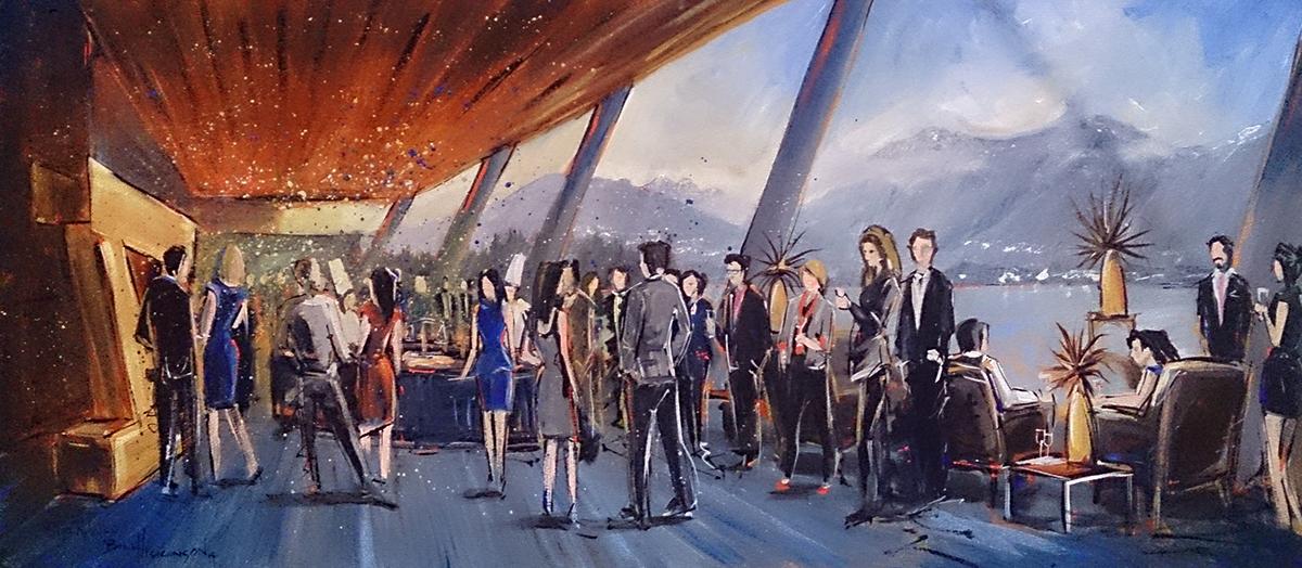 unique event entertainment - impressions live art painting vancouver convention center