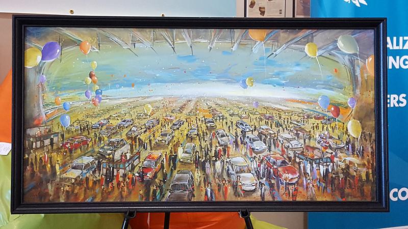 unique event entertainment - impressions live art, painting for adesa vancouver