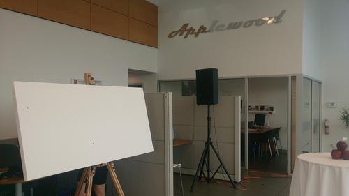 unique event entertainment - live painting for applewood nissan, impressions live art -1.jpeg