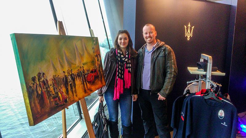 unique event entertainment - live painting for international auto show 2015, impressions live art