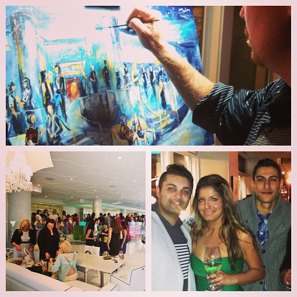 unique event entertainment - live painting at fundraiser, impressions live art