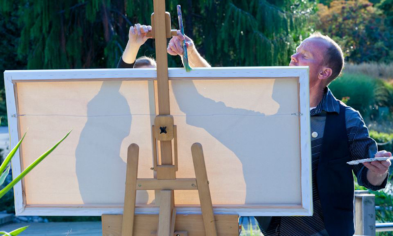 unique event entertainment - live painting at bloom fundraiser, impressions live art
