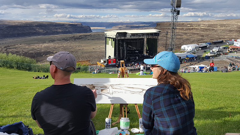 dave+matthews+band+at+the+gorge+live+painting+by+impressions+live+art