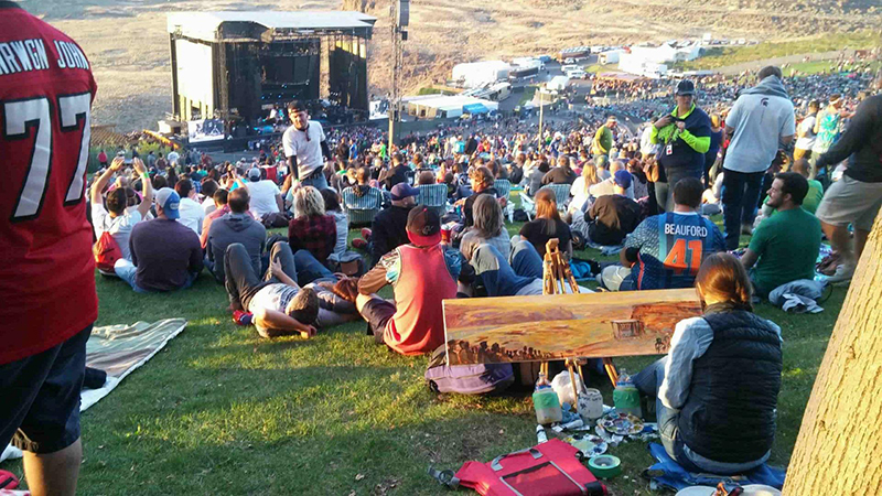 dave+matthews+band+at+the+gorge+live+painting+by+impressions+live+art+day 2