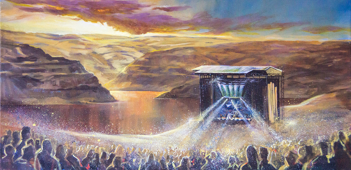 dave matthews band at the gorge live painting by impressions live art