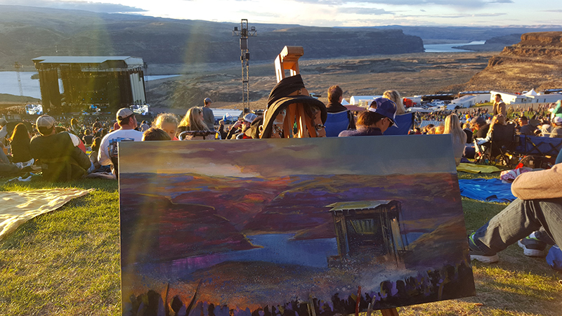 dave+matthews+band+at+the+gorge+day+3+live+painting+by+impressions+live+art